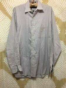 Men's JOSEPH & LYMAN Gray Long Sleeve Dress Shirt Size 15 1/2 (34/35)