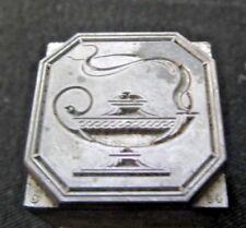 Antique Genie Oil Lamp Metal Type Set Printing Press Typeset 13/16 x 13/16