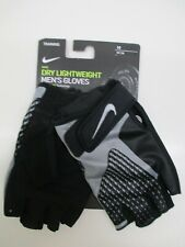 Nike men's lightweight training weight lifting gloves black/gray Medium
