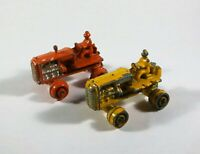 2 x Moko 1950s Matchbox Lesney No 8 ORANGE YELLOW Caterpillar Tractor (698) C11