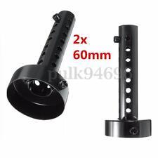 2Pcs 60mm Universal Motorcycle Exhaust Can Muffler Insert Baffle Silencer Black