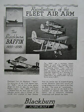 8/1944 PUB BLACKBURN BAFFIN TORPEDO BOMBER FLEET AIR ARM ORIGINAL AD