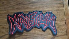 KRISIUN,SEW ON RED EMBROIDERED LARGE BACK PATCH