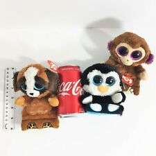 """Beanie Baby Boos 3 TY Plush Phone Holders w/Screen Cleaner 6"""" Chimps Pups Penni"""