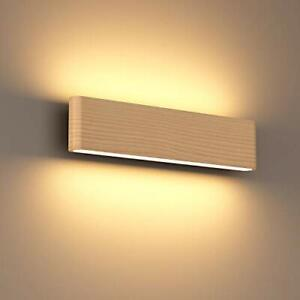 SAINUO Wall Light LED Up and Down Indoor Lamp?Wooden Wall Lights Hallway Lamp