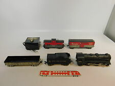 As304-4# Louis Marx co piste 0 maquettes us/usa locomotive a vapeur/LOCO 999 + voiture NYC + B & O