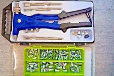 Kombi Nietmutternzange Blindnietzange M3 - M6 + 130 Stahl Nietmuttern Zange