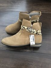 NEW! NEXT Girls Beige Suede Ankle Boots UK Size 3