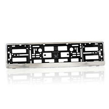 """2 x """"CHROME"""" EFFECT NUMBER PLATE HOLDER SURROUND CAR"""