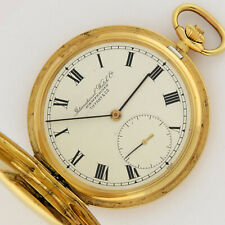 International Watch Co IWC Tiffany 18K Gold Pocket Watch Hunter Case 49mm w/Box