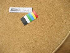 6629 günstig runder Teppich 80 cm Kettelteppich rund Gelb Mais Kräuselvelours