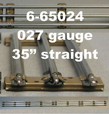 "LIONEL 027 LONG 35"" STRAIGHT TRAIN TRACK 3 rail tubular steel inch 6-65024 NEW"