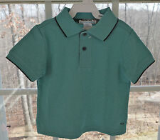 New Janie and Jack Vintage Airplane Mineral Green Top Boy's Size 6-12M