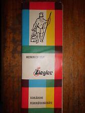 Merkbuch 1959 Ziegler TUBI ESTINTORI Vigili Fuoco Accessori