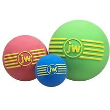 JW Dog Puppy Fetch Play Squeaky Rubber Ball Toy - iSqueak Ball Medium