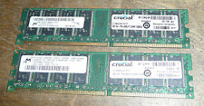 2GB (2 x 1GB) 184-pins PC2700 DDR RAM Desktop MEMORY 333MHz low density non-ECC