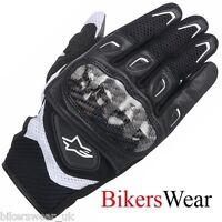Alpinestars Stella SMX-2 AIR CARBON Black/White Short Womens Motorcycle Gloves