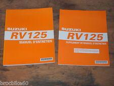 MANUEL REVUE TECHNIQUE ATELIER SUZUKI VAN VAN RV 125 2003 - 2007 RV125 VANVAN