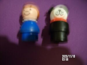 Vintage Fisher Price Little People Ronald McDonald Mom Boy Girl Trash Can Lot
