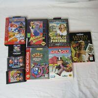 Lot of 9 Sega Genesis Games Tested and Work Sonic Spinball Columns Ariel Tweety