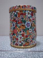Vintage Daher Floral Flower Tin Canister