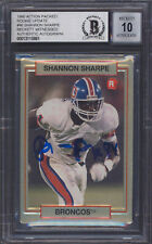 Shannon Sharpe Signed 1990 Action Packed Rookie Update #46 Card Auto 10 BAS Slab