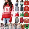Ugly Christmas Sweater Women Sweatshirt Hoodies Blouse Xmas Pullover T Shirt Top