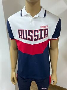 "BOSCO SPORT Herren POLO-Shirt Collection ""RUSSIA 2018"" OLYMPIC TEAM, weiß/blau"