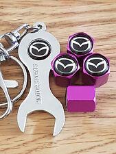 Mazda Púrpura Polvo Tapas De La Válvula & Cromo llave todos los modelos Retail Pack CX-5 MX-5