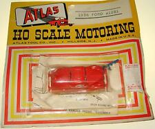 Atlas Ho Scale Motoring Slot Cars Red 1936 Ford Coupe Carded Car #1281
