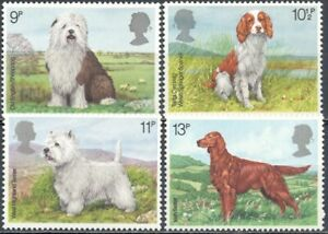 Gran Bretaña 1979 Yvert nº 880/83 Perros MNH
