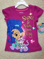 New Pink Nickelodeon Short Sleeve Shimmer & Nahal T-Shirt Girls (4,5,6,6x) BFF's
