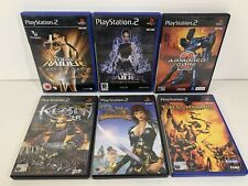 PS2 Retro Bundle Games x6 Kessen Circus Maximus Pirates Lara Croft Tomb Raider