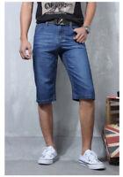 New Men's Jeans Denim Shorts Distressed Pants Classical Summer Fit Size28-40