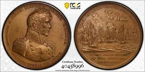 Oliver Perry Battle of Lake Erie 65mm Bronze Medal SP63 PCGS Restrike