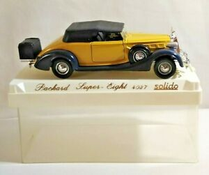 SOLIDO AGE D'OR 1:43 SCALE PACKARD SUPER EIGHT - YELLOW & BLACK - #4037 - CASED