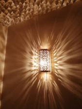 Moroccan wall light Handmade oriental wall lamp Golden Brass night light Fez