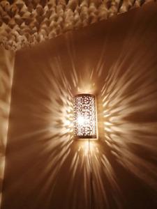 Moroccan wall light Handmade oriental wall lamp Golden Brass night light Fez