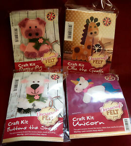 CHILDRENS FELT CRAFT KIT -  EASY TO SEW
