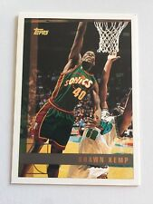 1997 Topps NBA Basketball Card #92 Shawn Kemp Seattle Supersonics