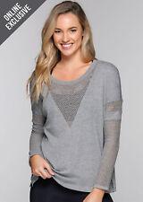 NEW Womens Lorna Jane Activewear   Girlfriend L/slv Top
