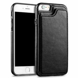 Phone Case for Apple iPhone Models - Tough Shockproof Card Bumper Flip Cover