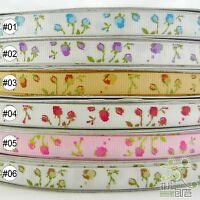 "3/8""9mm Mixed Colors Elegant Rose Spring Grosgrain Ribbon 5 Yard High Quality"