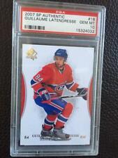 2007-08 SP Authentic Canadiens  #18 Guillaume Latendresse PSA 10 GEM MINT