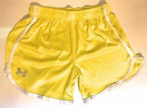 Under Armour Women's Heatgear Running Shorts Acid Yellow 2XL