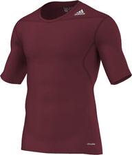adidas Techfit Funktionsshirt Shortsleeve cardinal-rot (D82093) Gr. S