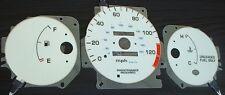 96-00 Honda Civic DX MT Manual Stick Shift Cluster White Face Glow Gauges NO RPM