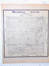 Old Stonewall County Texas General Land Office Owner Map Aspermont Rayner Peacoc
