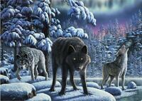 DIY Diamond Painting Part Drill 5D Wolf Embroidery Cross Stitch Kits Mural Decor