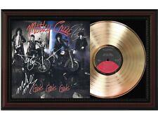 "Motley Crue Framed Cherry Wood Reproduction Signature Lp Record Display ""M4"""